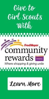 Give to Girl Scouts Fred Meyer